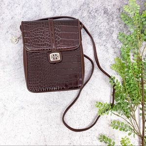 Brighton One World Brown Leather Crossbody Bag